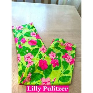 Lilly Pulitzer Tropical Floral Pants Sz 0
